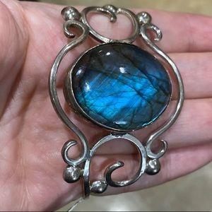 Jewelry - Sterling Silver Labradorite Cuff Bracelet